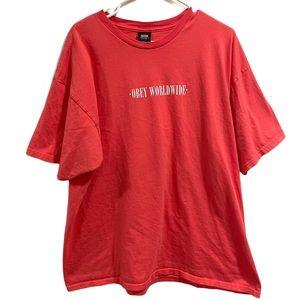 """Obey """"Obey Worldwide"""" Shirt Salmon Size XXL"""
